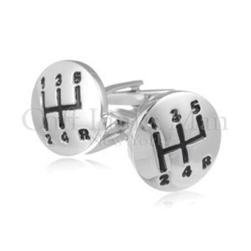 Gear Shifter Silver CuffLinks-CL-0017