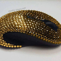 Custom Wireless Mouse, Swarovski Mouse, Bedazzled Mouse, Crystal Mouse, Wireless Mouse, Strauss Mouse, Bling Wireless Mouse,Rhinestone Mouse