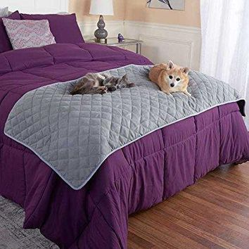 Quilted Pet Bed Scarf - Gray