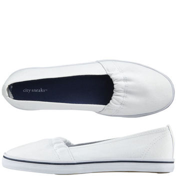 Womens - City Sneaks - Canvas Scrunch Slip-On - Payless Shoes