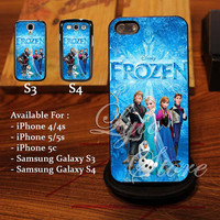 Frozen Disney All Character Design for iPhone 4, iPhone 4s, iPhone 5, Samsung Galaxy S3, Samsung Galaxy S4 Case