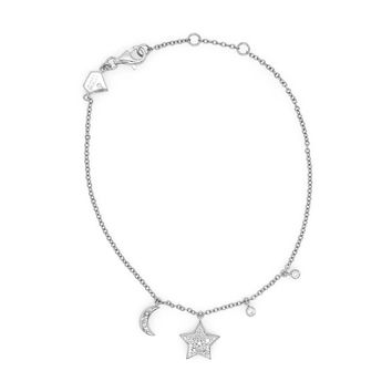 Star and Moon Diamond Bracelet (Includes 14 diamonds)