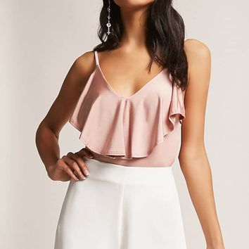 Ruched Strappy Bodysuit