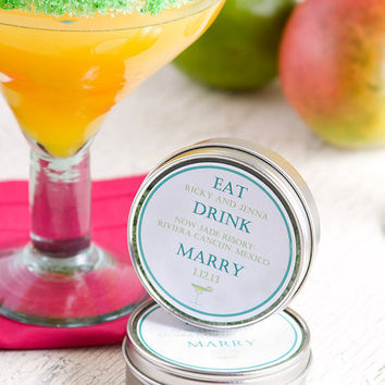 Save the date margarita salt party favors by dellcovespices
