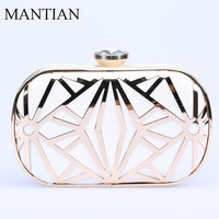 Fashion Women Handbags Metal Patchwork Shinning Shoulder Bags Ladies Clutch Wedding Party Evening Bags