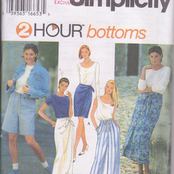 8ec7a574247 Easy sewing pattern for mock sarong skirt