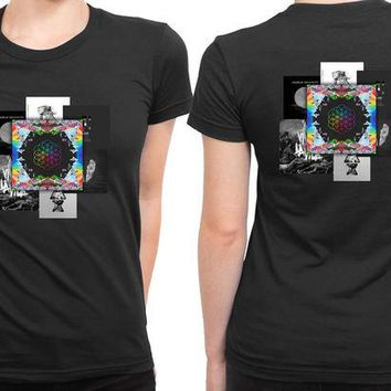 DCCKG72 Coldplay Present Albums 2 Sided Womens T Shirt