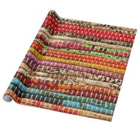 Woven fabric rope style wrapping paper