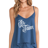 Wildfox Couture Je T'aime Sleep Set in Blue