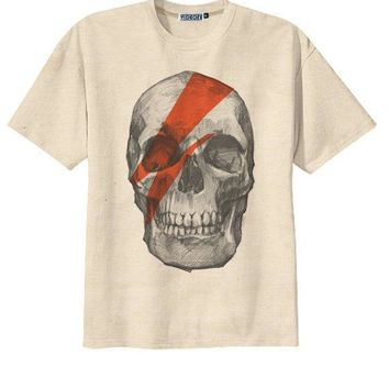 Retro David Bowie Skull Skeletonpunk Rock T Shirt Tee Organic Cotton Vintage Look Size S M L