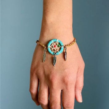 Turquoise Dream Catcher Bracelet