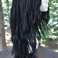 Jet Black Lace Front Synthetic Dreadlock Wig * Custom Dread Wig * Double Ended Dreads * Dreadlock Extensions * Strega * Goth * Scene * Punk