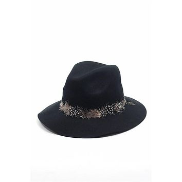Wool Feather Fedora Hat