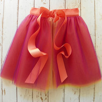 Sunset Tulle Tutu Skirt--Customizable Order