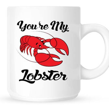 Friends TV Show Coffee Mug - You're My Lobster, Phoebe Buffay, Ross and Rachel, Together For Life, Lisa Kudrow, Friends Sitcom Mug