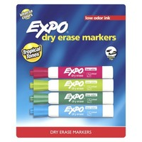 Expo 4ct Low Chisel Dry Erase Markers - Tropical Tones