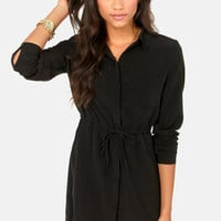 Olive & Oak A Shirt Thing Black Shirt Dress