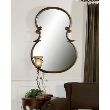 Uttermost 06001 Etienne Distressed Wood Tone Mirror