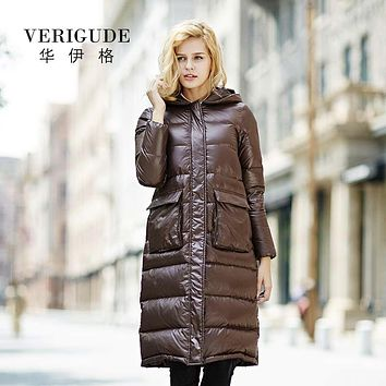 Veri Gude Down Coat Long Style Winter Parka Lightweight High Quality