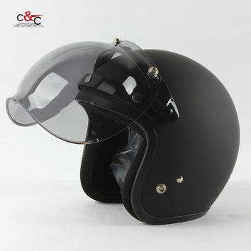 Free shipping 3-snap open face helmet visor vintage motorcycle helmet bubble shield visor Can be used with THH TT & CO  helmet