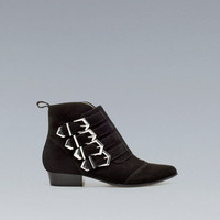 FLAT ANKLE BOOT WITH BUCKLES - Boots and ankle boots - Shoes - Woman - ZARA United States