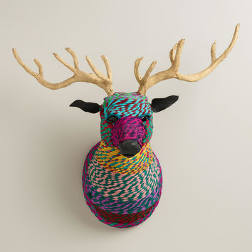 Chindi Bust with Antlers - World Market