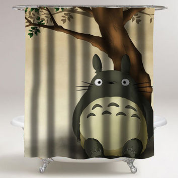 totoro custom shower curtain decorative shower curtain size 36x72,48x72,60x72,66x72