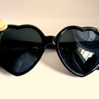 Heart Shaped Bow Sunglasses
