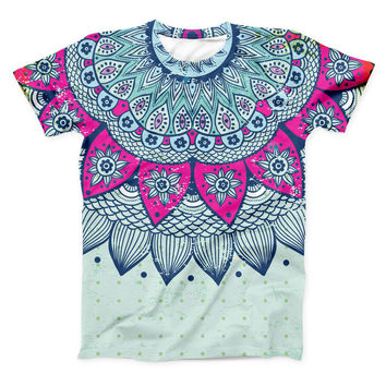 The Vintage Mandala ink-Fuzed Unisex All Over Full-Printed Fitted Tee Shirt