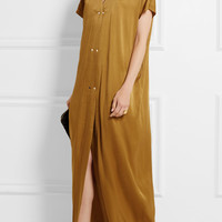 Lanvin - Washed-satin maxi dress