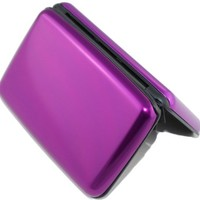 Shell-D RFID Blocking Aluminum Card Holder Case, Purple (001)