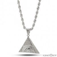King Ice All Seeing Eye Pyramid Necklace
