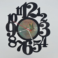 Vinyl Record Wall Clock (artist is Carly Simon)