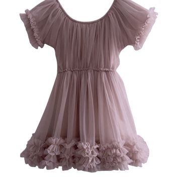 DOLLY by Le Petit Tom ® FRILLY DRESS mauve