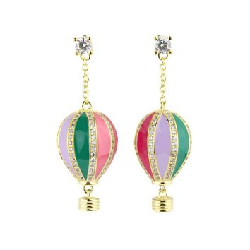 Pastel Hot Air Balloon Earrings