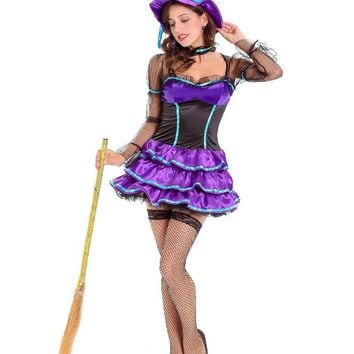 MOONIGHT 2017 Costume Halloween Costume Female Witch Costume Party Dress Vampire Witch Cos Anime