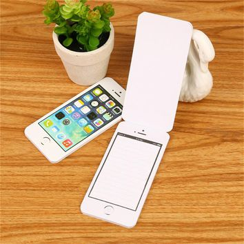 Notebook Sticky Post It Note Paper Cell Phone Shaped Notepad Planner 2017 Office Supplies New Creative Stationery Gift Hot Sell