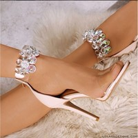 Big Diamond High-heeled Sandals