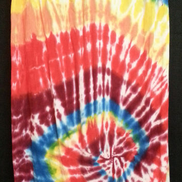 Hand Dyed Tie Dye 100% Natural Viscose Rayon Scarf