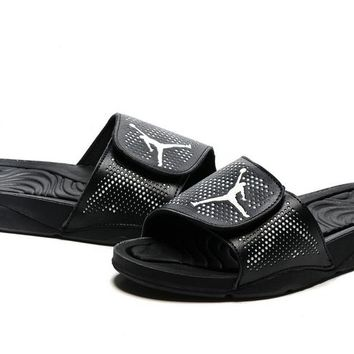 Nike Jordan Hydro V Retro Black Sandals Slipper Shoes Size US 7-11