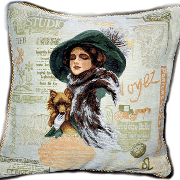 Tache Puppy Day Out Throw Pillow Cushion Cover (CC-1354)