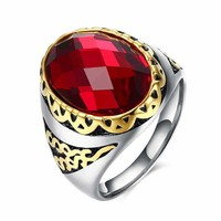 Gift Shiny Jewelry New Arrival Stylish Men Titanium Accessory Strong Character Ring [10783255427]