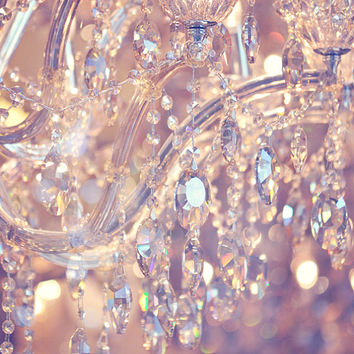 Dreamy Pastel Chandelier Photo Print - 8x10 - Nursery Decor, Art Print, Romantic, Crystals, Sparkle, Glimmer, Feminine, Girls Room, Glam