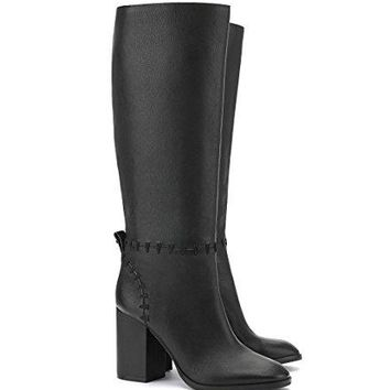 Tory Burch Contraire 90mm Boot Golf Nappa 42750 (Black - 001)