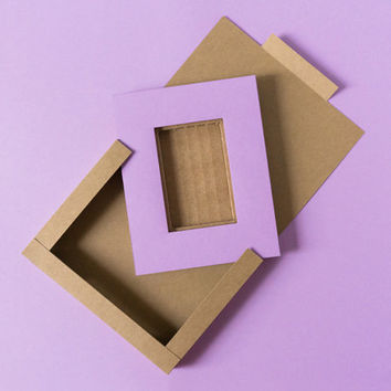2x3 Picture Frame Set of 6, Small Cardboard Picture Frame Party Favors, Mini Picture Frames, Paper Photo Frames, Kraft Boxes, Party Favors