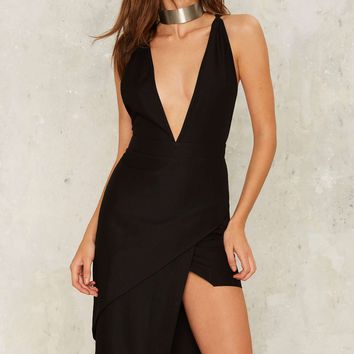 Nightwalker Beneath the Fold Plunging Dress