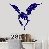 Vinyl Wall Decal Dragon Fantasy Beast Monster Fairy Tale Stickers (2757ig)