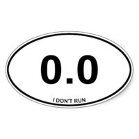0.0 Non Runner Oval Stickers from Zazzle.com