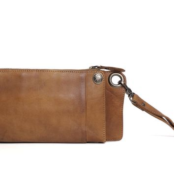 BLUESEBE HANDMADE VEGETABLE TANNED LEATHER LONG WALLET 9028T
