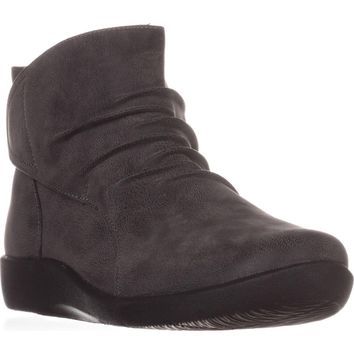 Cloudsteppers by Clarks Sillian Sway Ankle Booties, Grey, 6 W US
